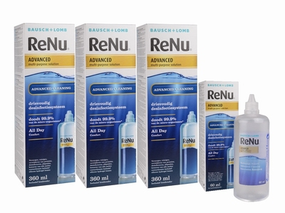 Renu Advanced 3x 360 ml.+60 ml. voordeelpak (6 maanden)