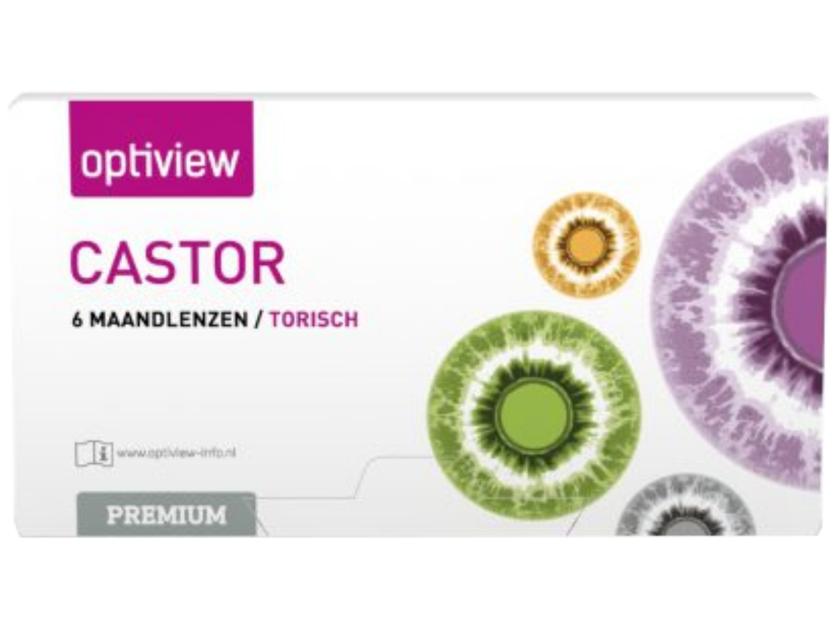 Optiview Castor Premium Toric 6 lenzen