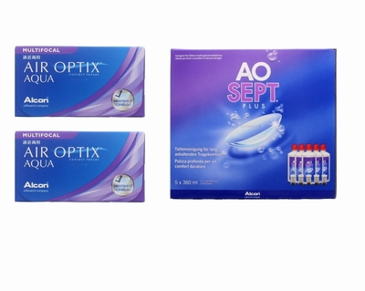 Air Optix Aqua Multifocal (2x6) + Aosept-Plus