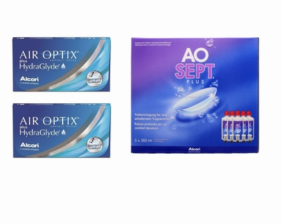 Air Optix plus HydraGlyde (2x6) + AoSept-Plus