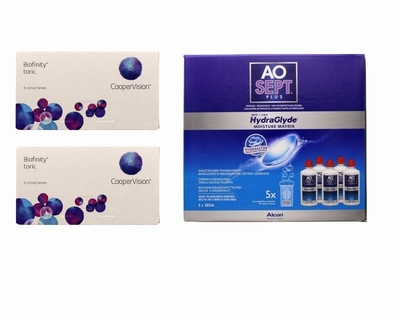 Biofinity Toric (2x6) + AoSept-Plus with HydraGlyde