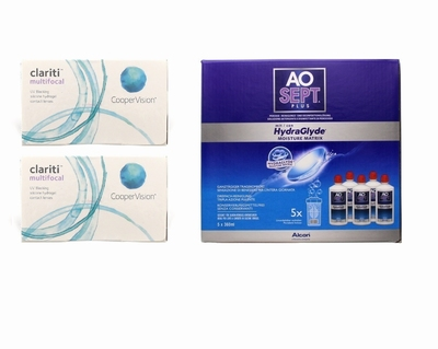 Clariti Multifocal (2x6) + Aosept-Plus with HydraGlyde