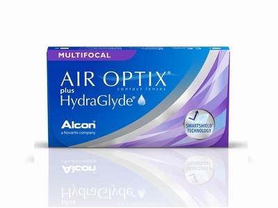 Air Optix Aqua Multifocal plus HydraGlyde, 3 lenzen