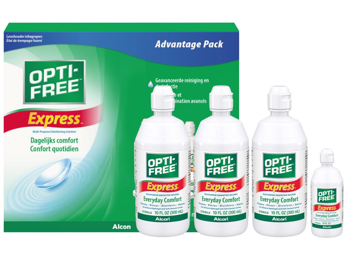 OptiFree Express 3x355ml.+120ml voordeelpak (6 maanden)