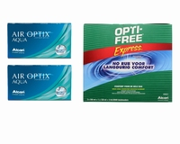 Air Optix Aqua (2x6) + Optifree Express