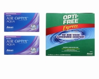 Air Optix Aqua Multifocal (2x6) + Optifree Express